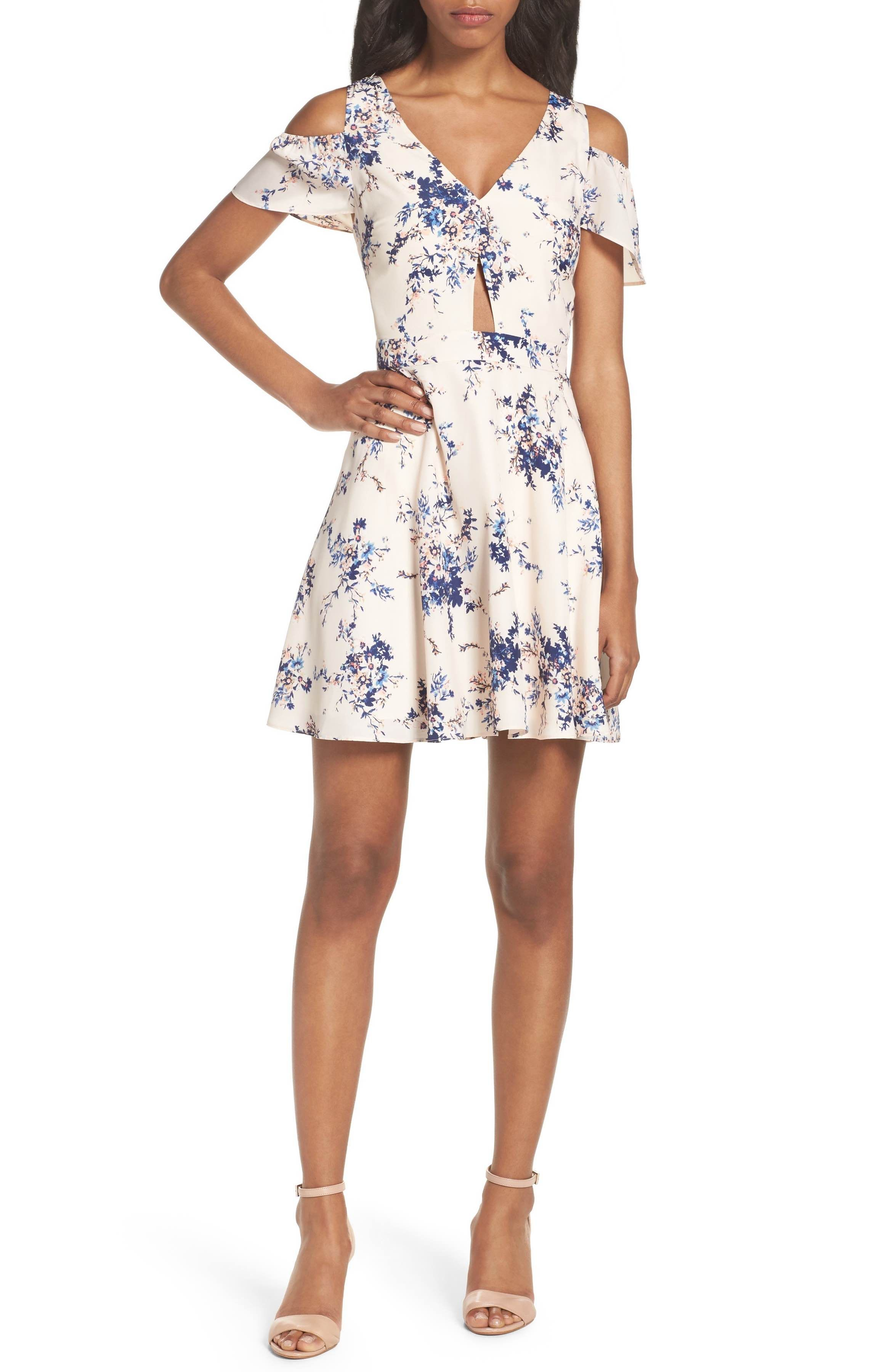 Main Image - Ali & Jay Chasing Butterflies Cold Shoulder Dress