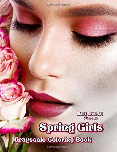 Spring Girls Grayscale Coloring Book By Karlon Douglas Amazon