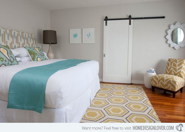 Wonderful 15 Gorgeous Grey, Turquoise And Yellow Bedroom Designs