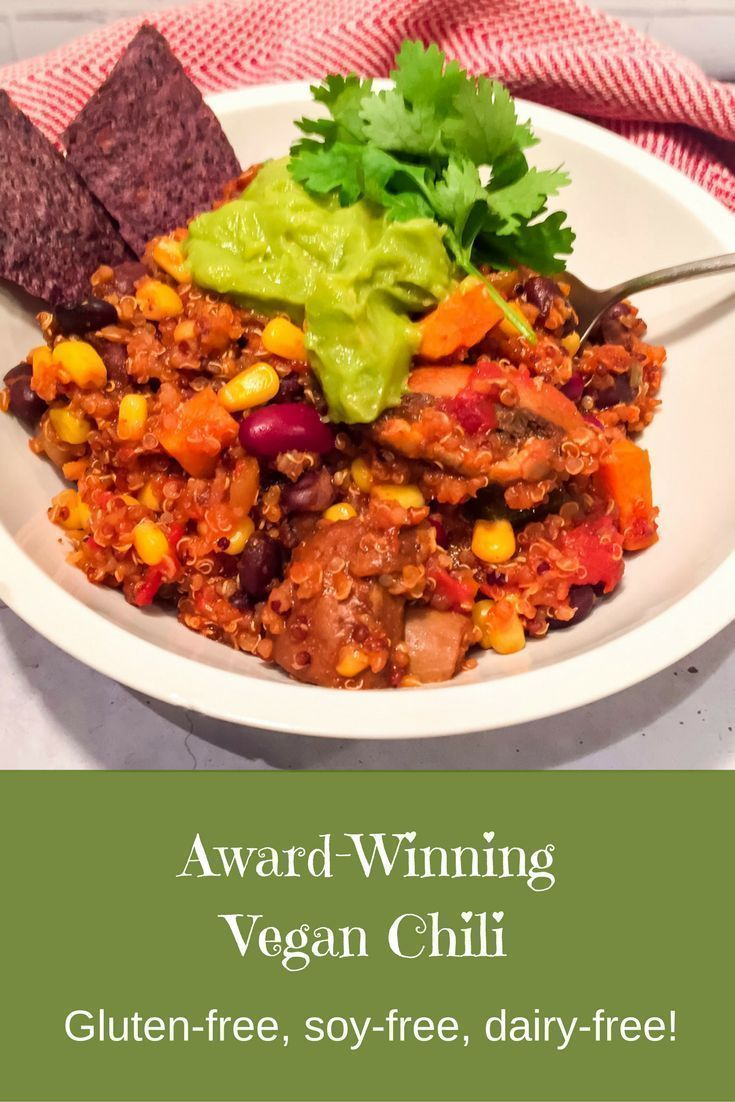 Award Winning Vegan Chili Vegetarian Recipes Vegan Chili