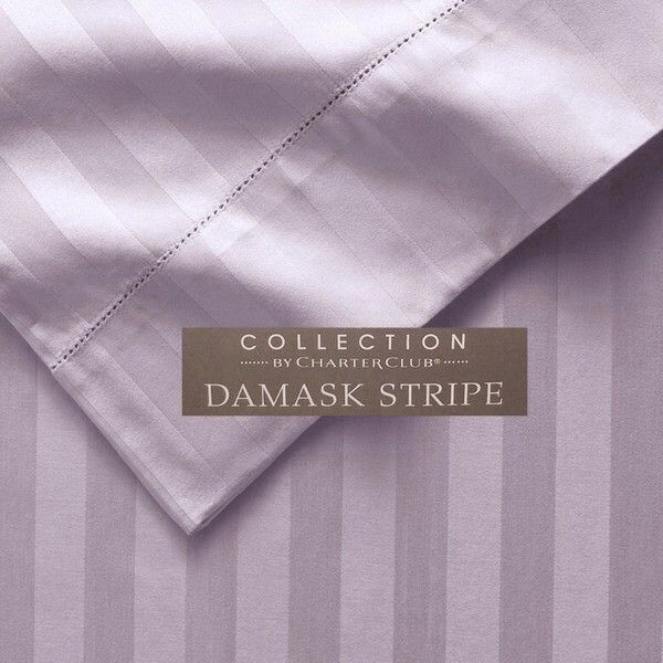 Charter Club Damask Stripe Pillowcases Sheets - Orchid - Swanky Outlet