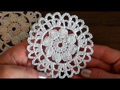 Crochet motif#6 Flower Tutorial
