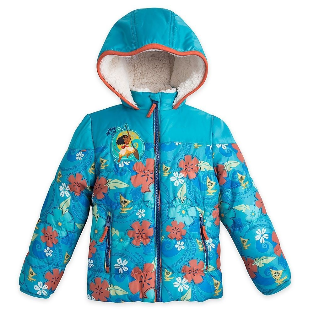 Moana Clothes Girls Costume Long Sleeve Jacket Zipper Hooded Sweat Outwear Coat