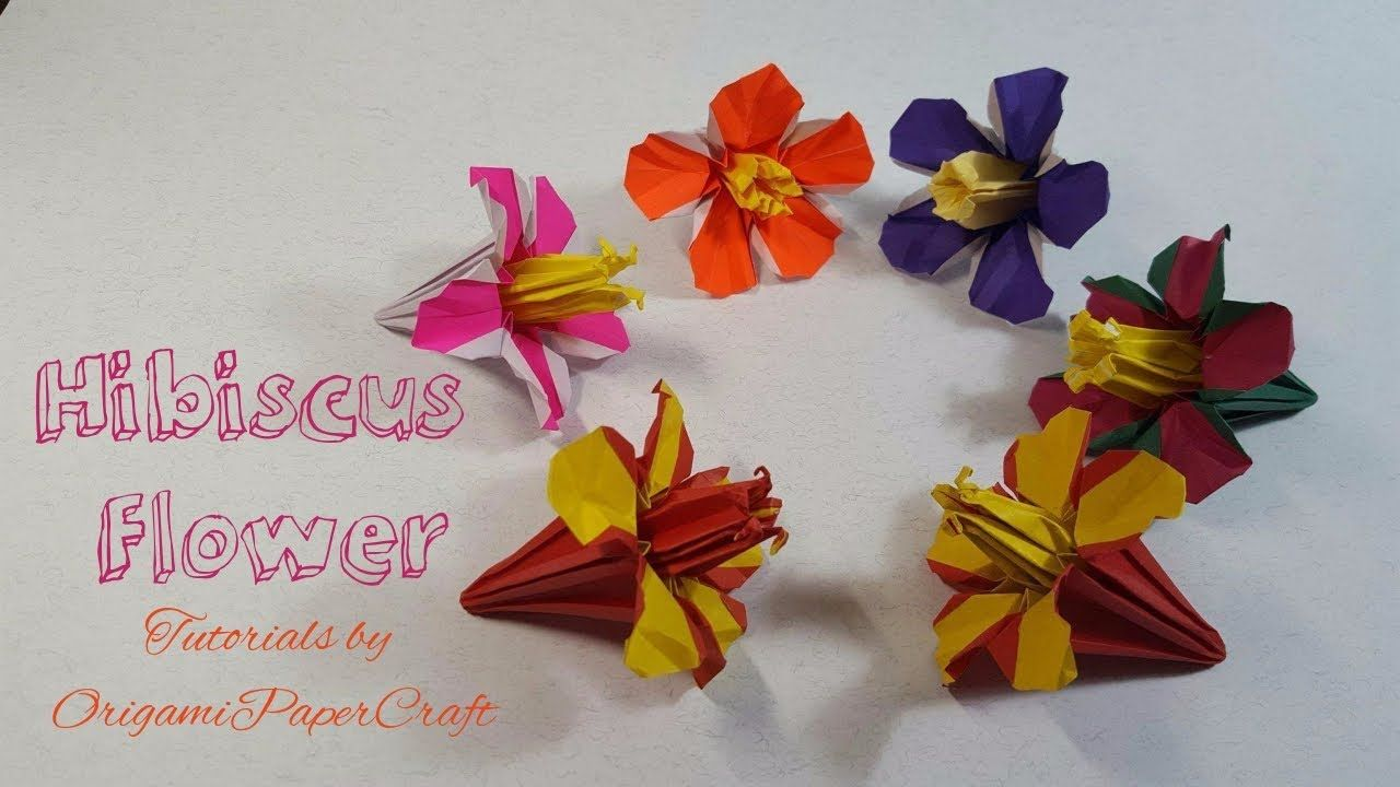 Origami Hibiscus Flower Hoa Dm Bt Tutorials By