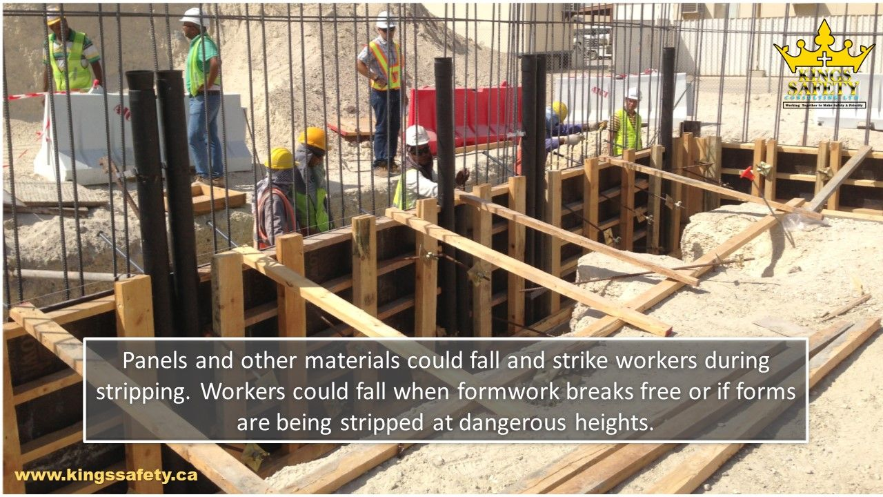 Formwork stripping is one of the most hazardous operations