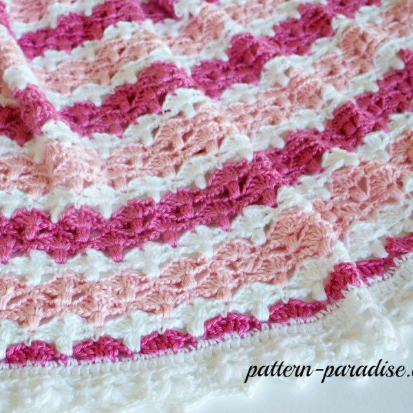 Free crochet pattern for essentials baby blanket, afghan, throw by ...