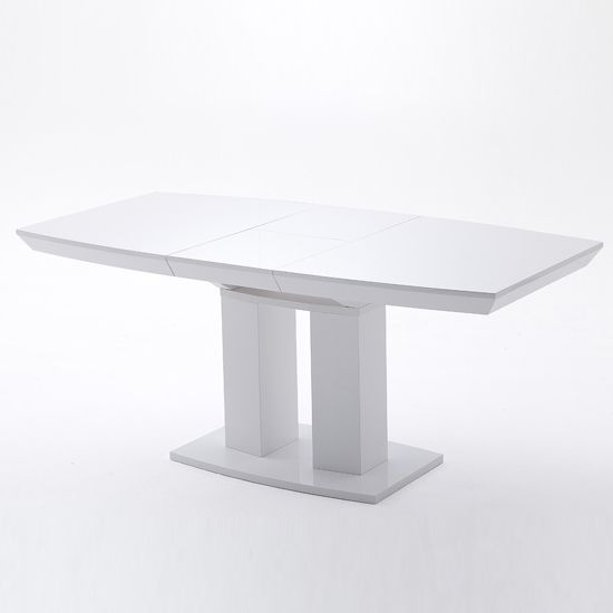 Genisimo Extendable Dining Pedestal Table High Gloss 180 To 240