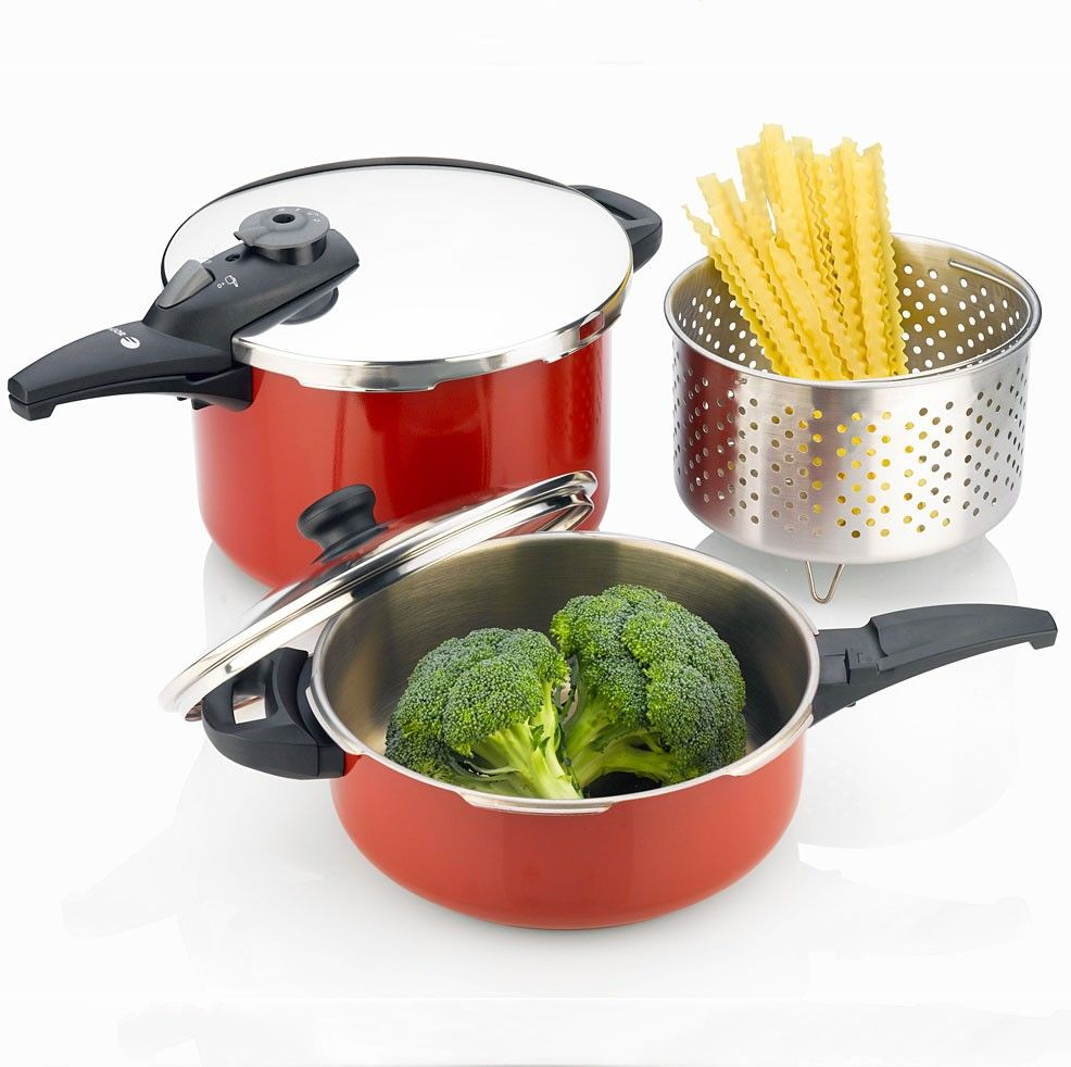 Fagor cayenne piece pressure cooker set includes and quart