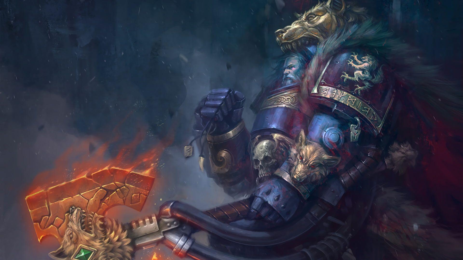 Warhammer Warhammer 40k Logan Grimnar 1080p Wallpaper Hdwallpaper Desktop In 2020 Space Marine Warhammer Warhammer 40k