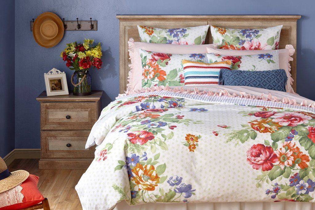 The Pioneer Woman Beautiful Bouquet Euro Sham Set Luxury