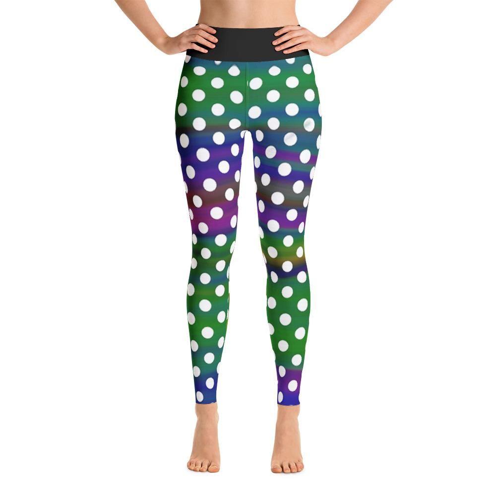 e0d6de915f Fun Polka Dot All Over Print Yoga Pants / Leggings | Women's YOGA ...