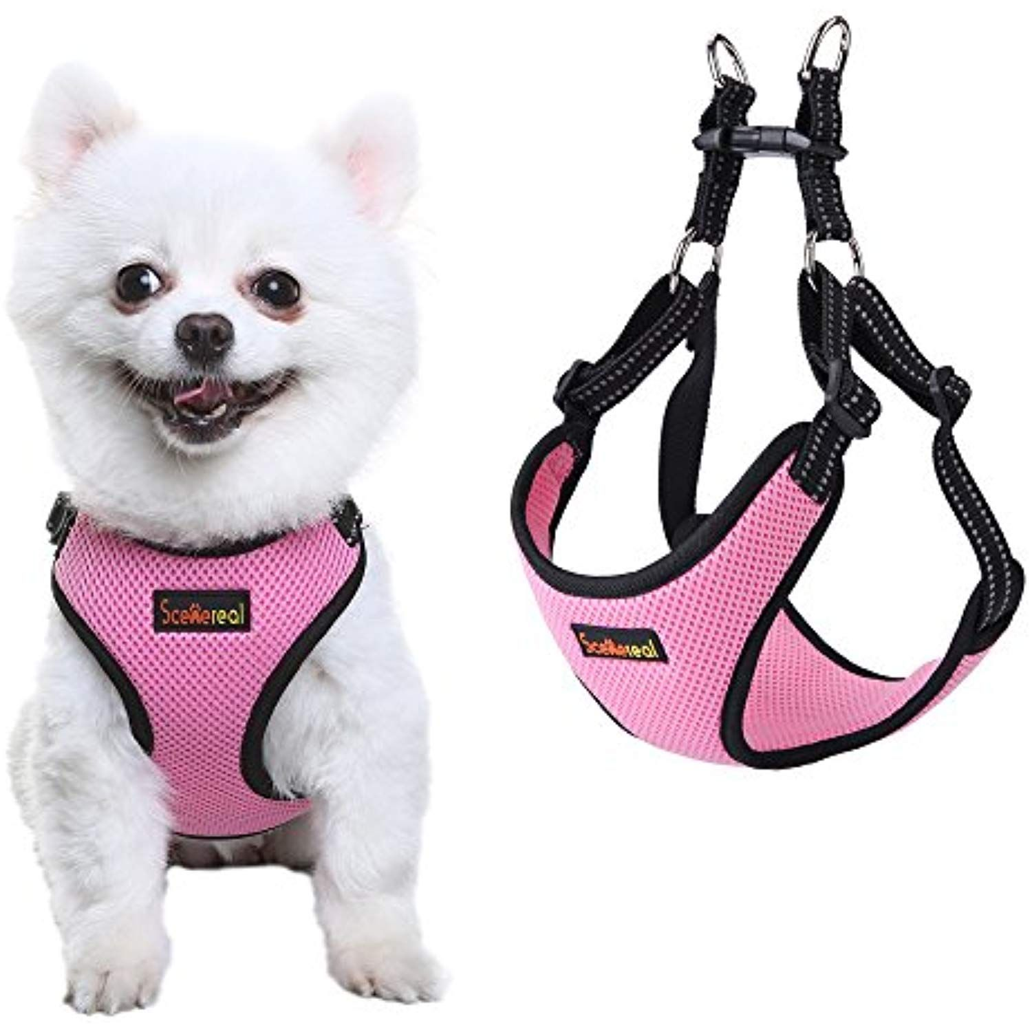 Scenereal Small Dog Harness For Puppy Cats Soft Adjustable