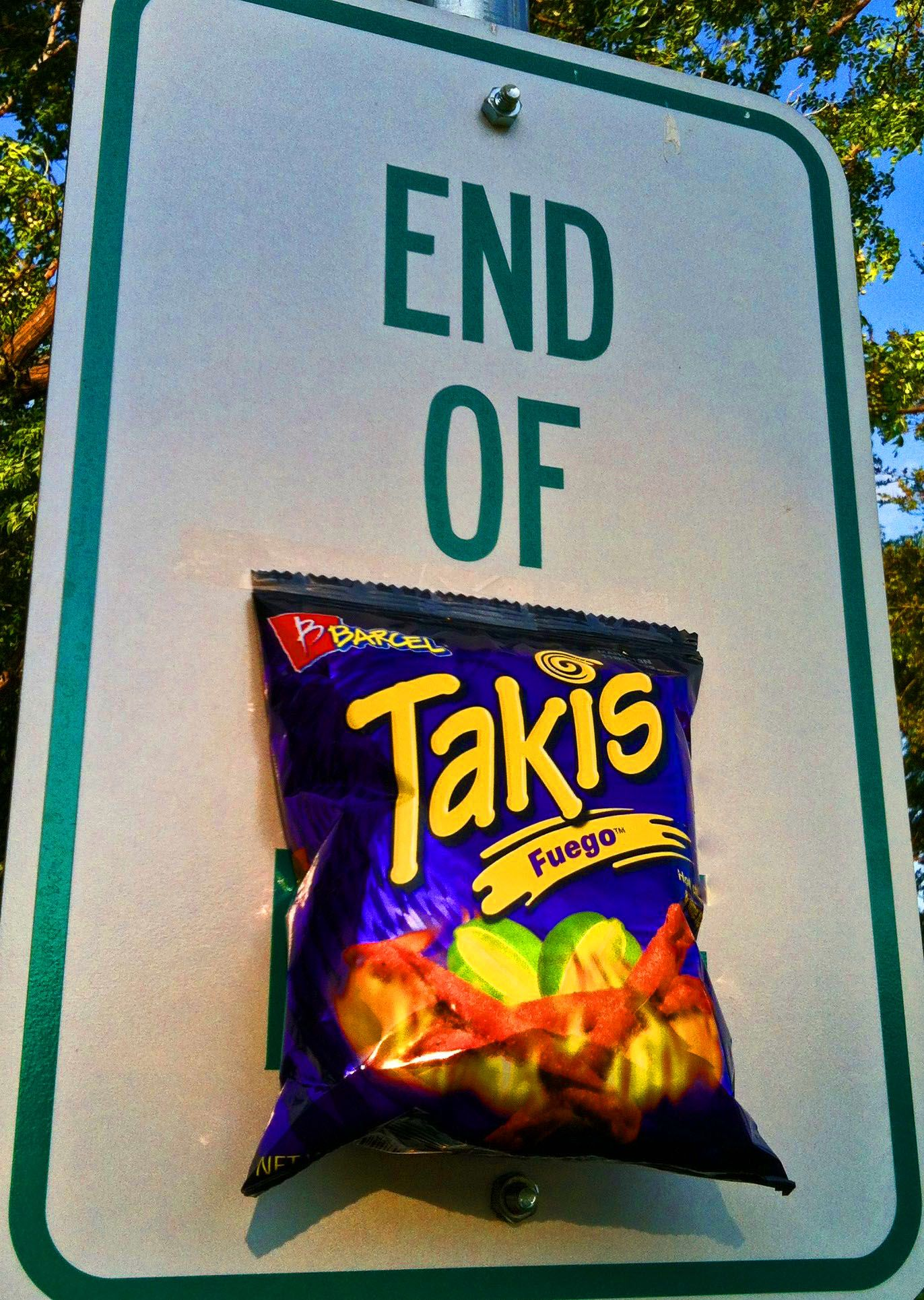 End of takis just reach for another purplebag pop