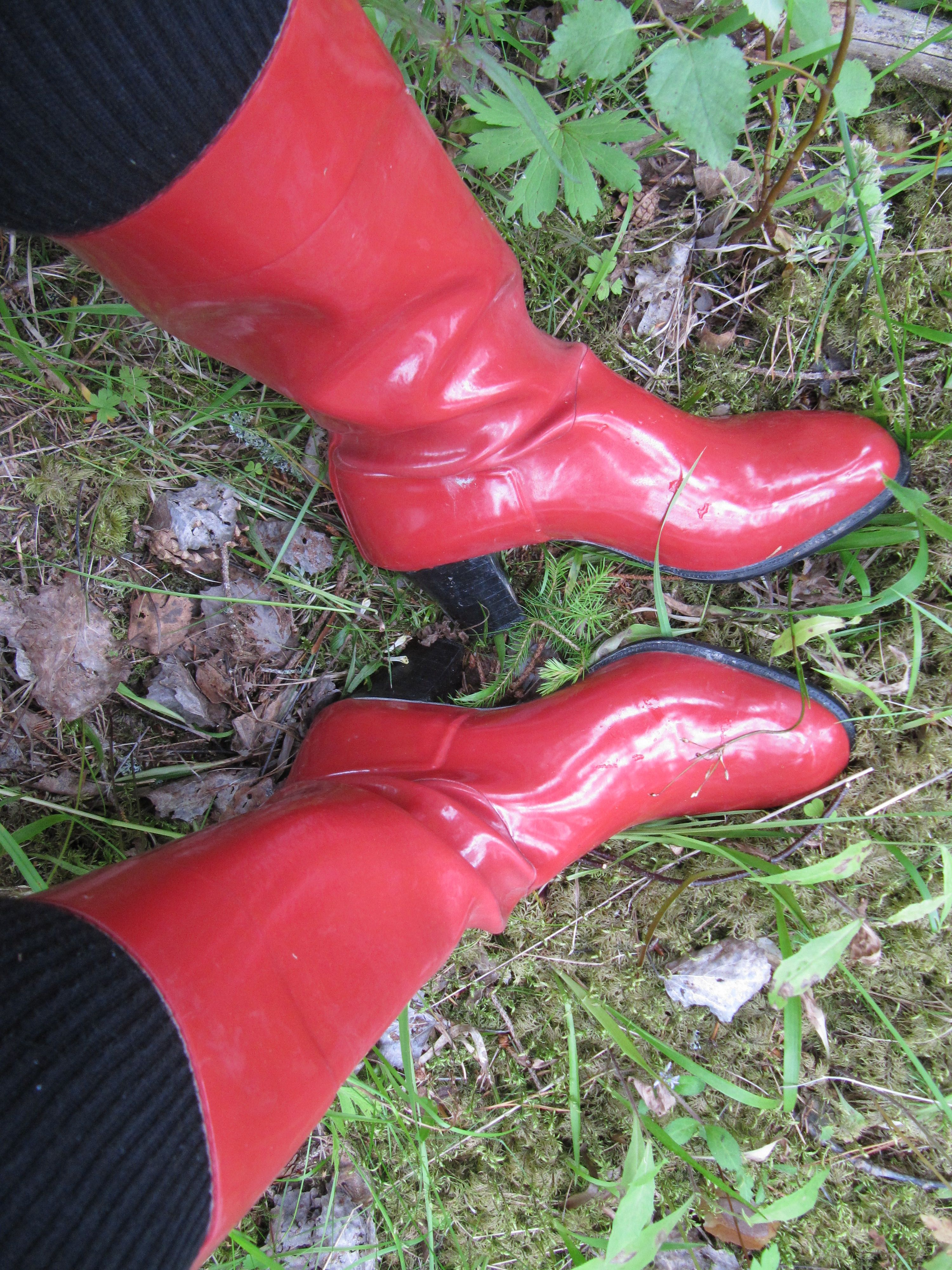 Red Nokia Vintage Wellies Rain Boots Boots Rubber Rain