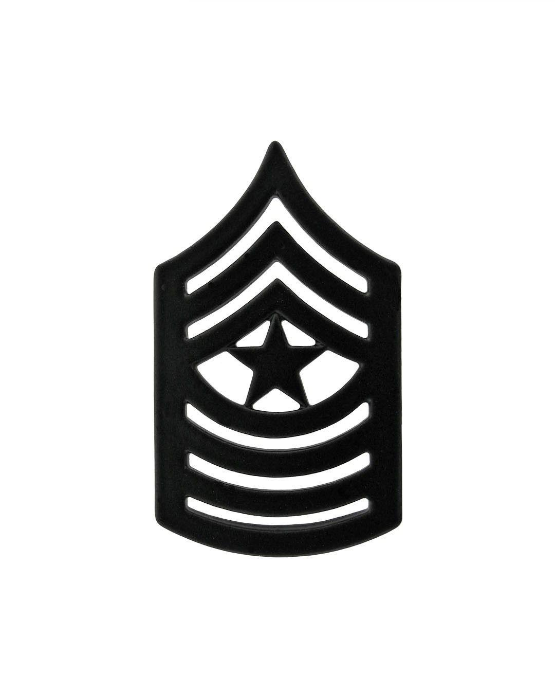 d407d12a883 Sergeant Major Marine Corps Chevron Sta-Black Item  1-M2609SB