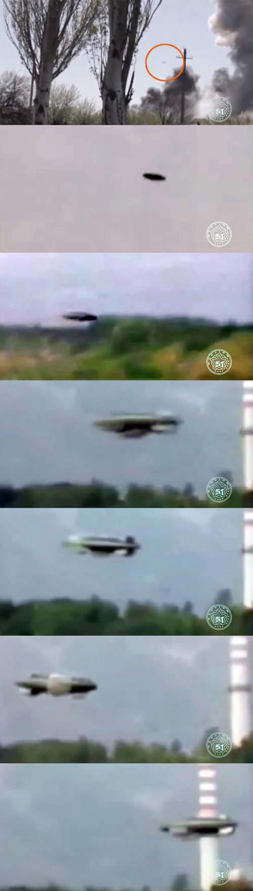 烏克蘭飛碟目擊 UFO表示:知道你們像素不好所以自己靠近一點...