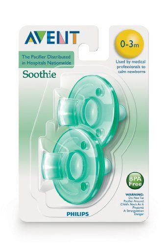 Vanilla Scent Soothie Newborn Pacifiers 2 Pack