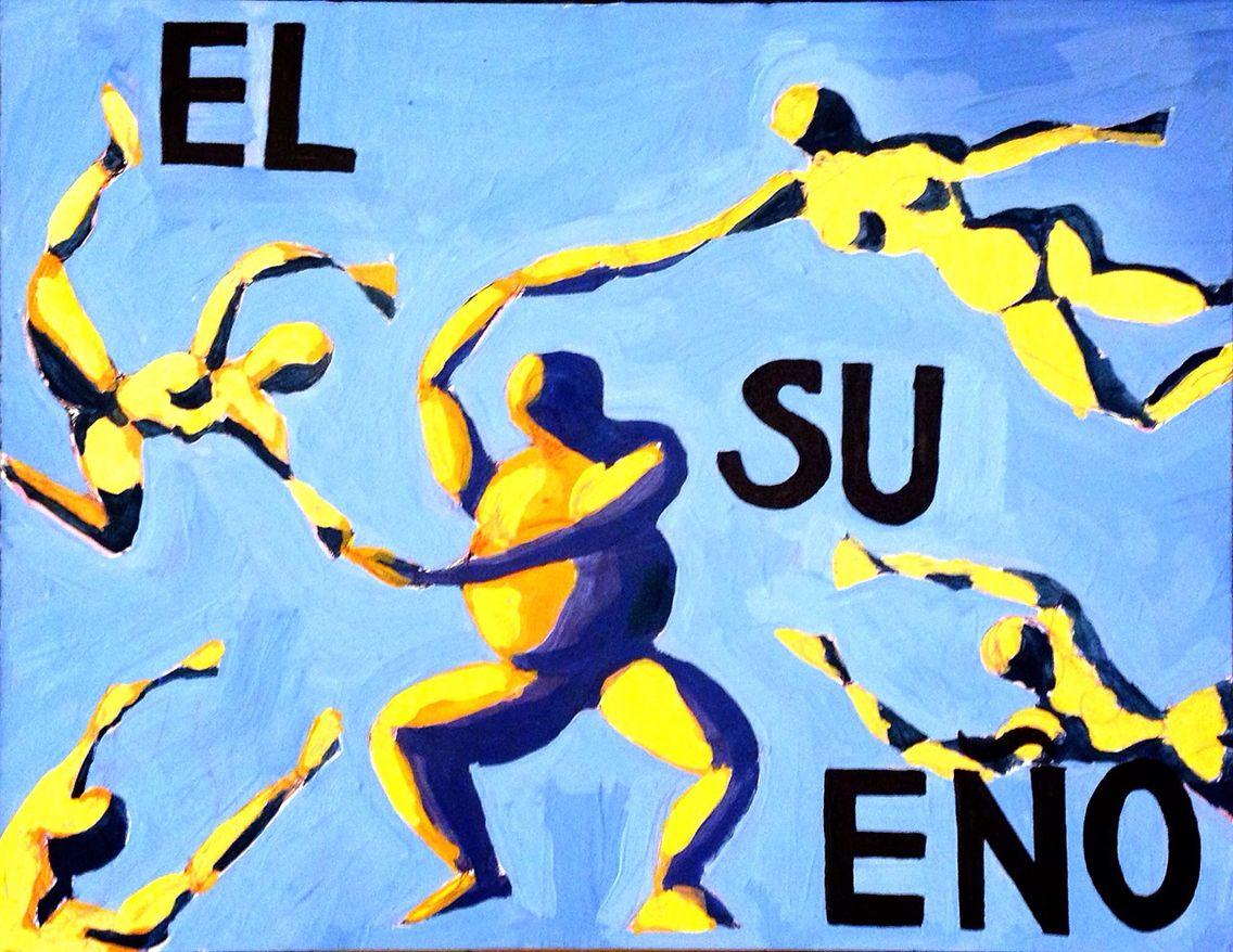 """""""El Sueño"""" acrylic on may board. (Part of series """"Lotería Tailandesa"""")"""