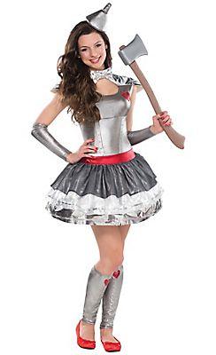 Teen Girls Tin Man Costume - The Wizard of Oz | Halloween Costume ...