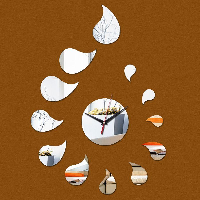 2015 new hot venda casa decoração espelho acrílico relógio de parede relógio de quartzo relógios moderno cofre digital grande adesivo frete grátis alishoppbrasil