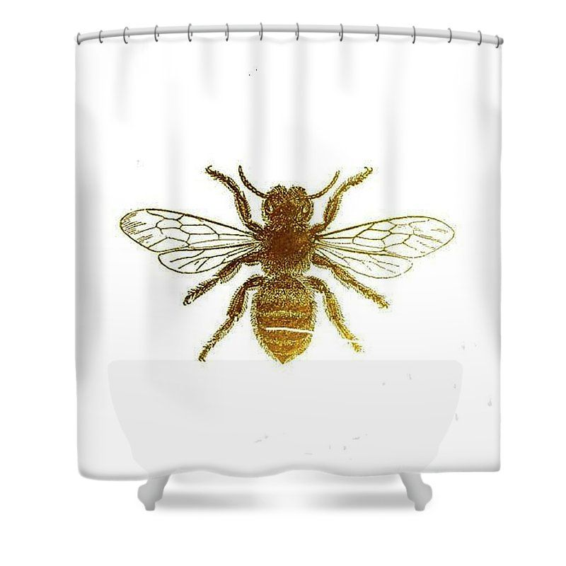 Golden Bee Shower Curtain For Sale By Vesna Antic With Images