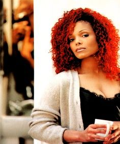 Janet Jackson S Red Hair Back In The 90 S Janet Jackson Janet Jackson Velvet Rope Jackson Music