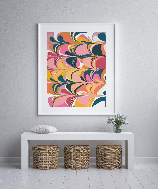 Colorful And Bold Abstract Art Printable Marbled Painting Etsy In 2020 Bold Abstract Art Printable Art Abstract Wall Art