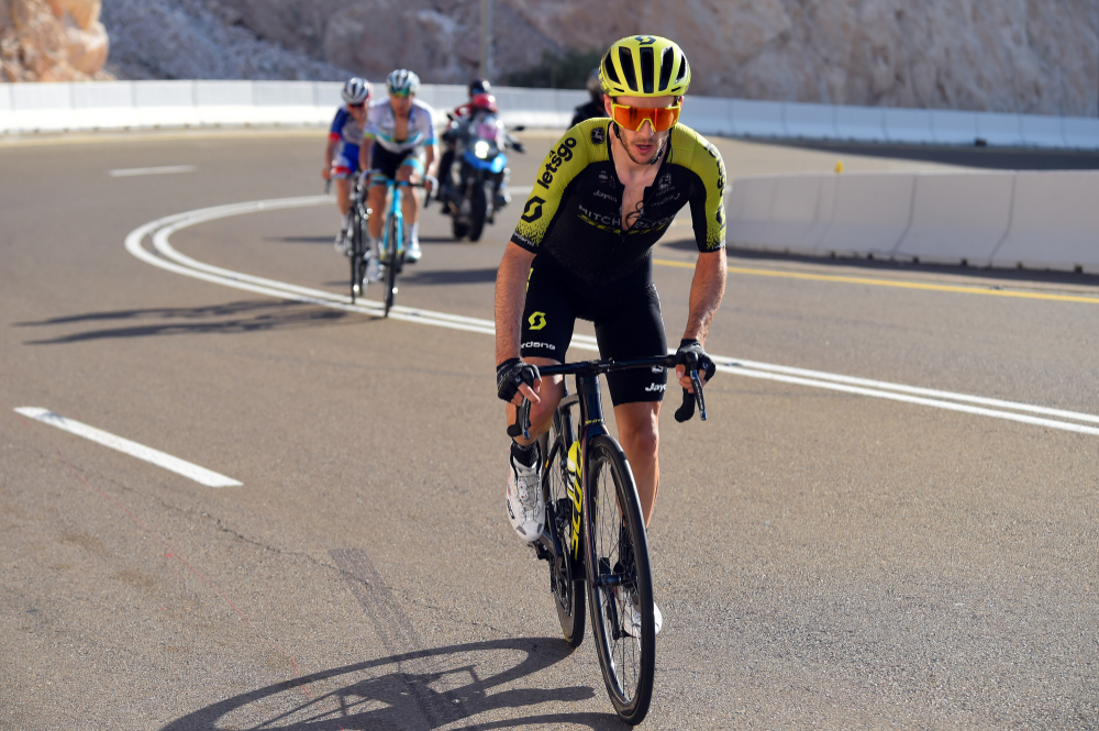 Adam Yates On His Way To Taking Stage 3 Of The Uae Tour In 2020 Adam Yates Racing Bicycle