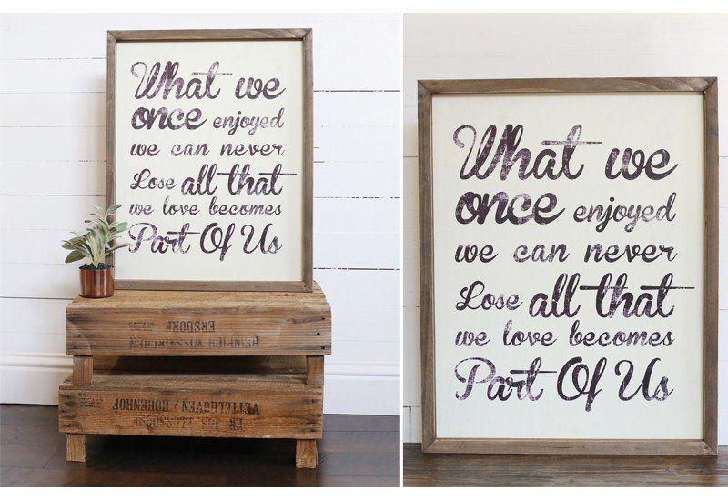 Wall Art, Wall Décor, Framed Quote, Framed Inspirational