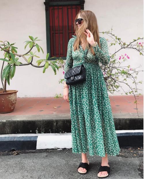 Ganni street style | Laura Lawaetz | Capella Mesh Maxi Dress