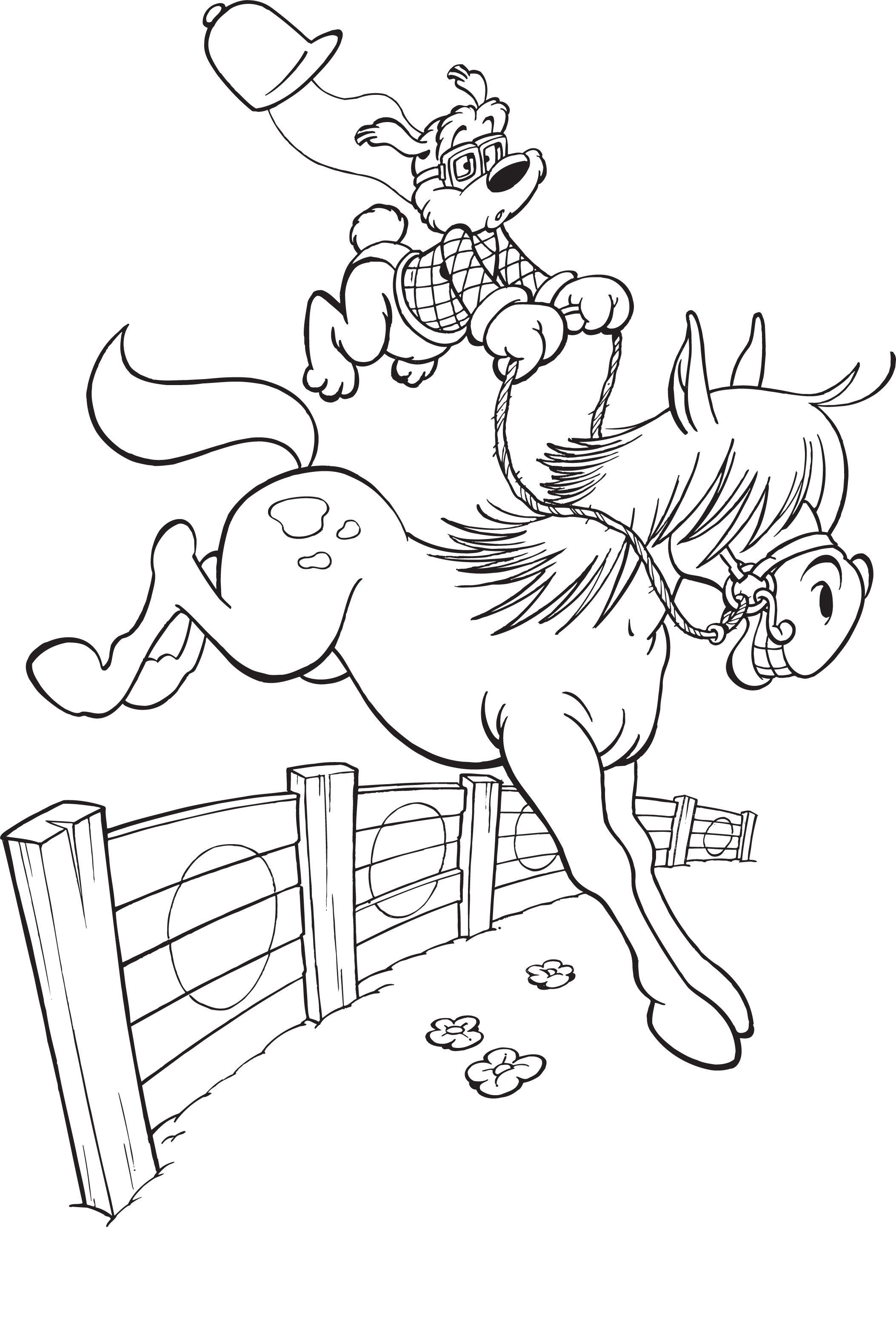 Kleurplaten Love Paarden.Kleurplaat Paard Spring