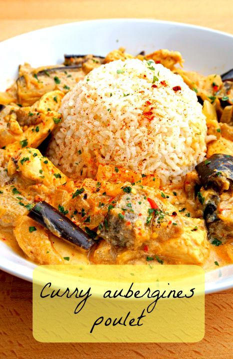 curry poulet aubergine poulet aubergine recettes saines et aubergines. Black Bedroom Furniture Sets. Home Design Ideas