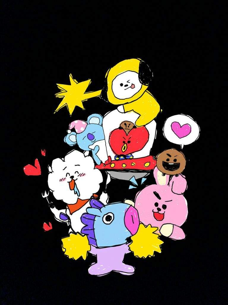 BT21 WALLPAPER | ARMY's Amino in 2019 | Free pictures ...