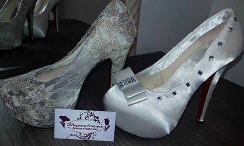 forração de sapatos para exposição
