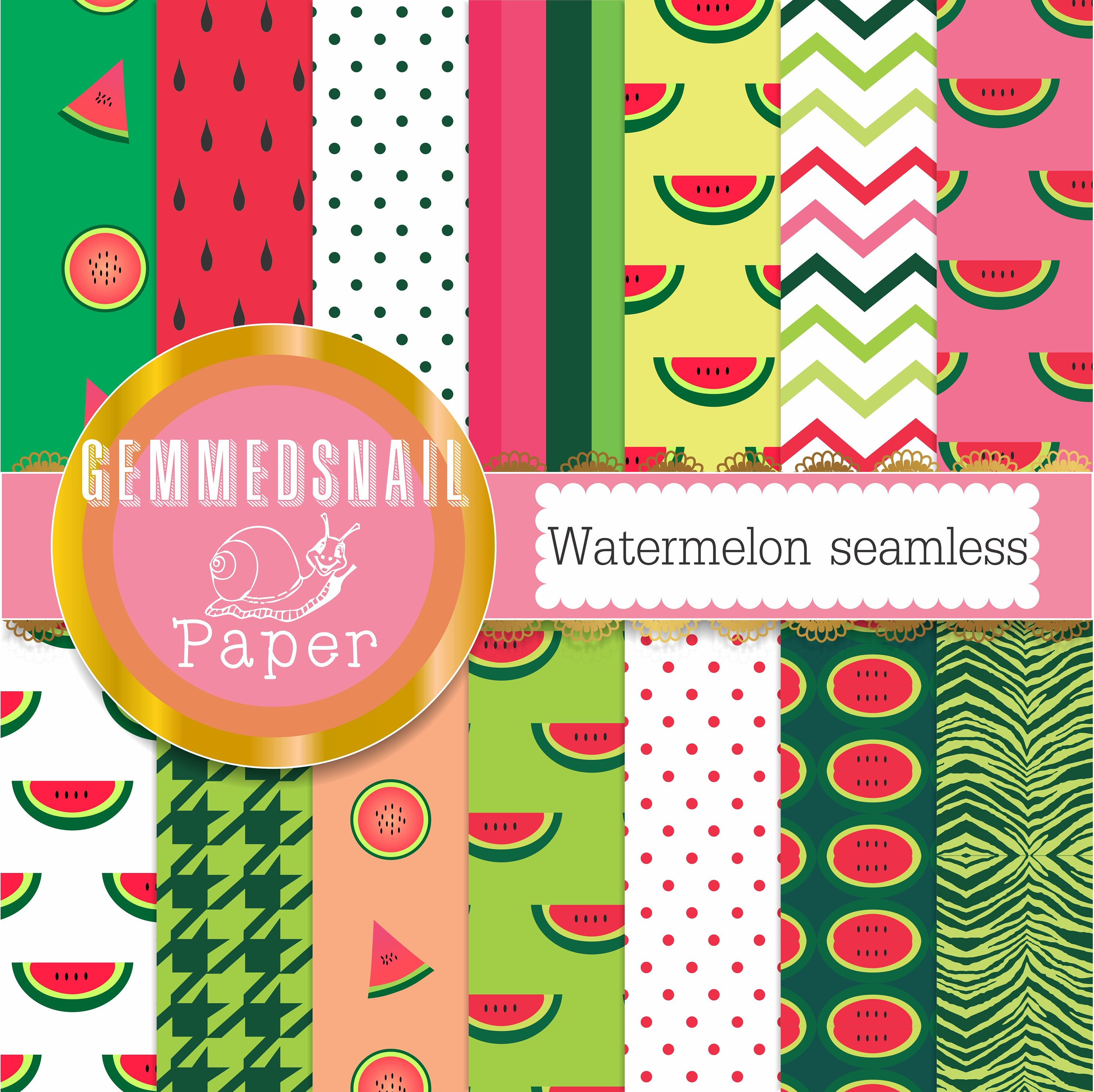 Watermelon digital paper seamless watermelon backgrounds in 12 watermelon digital paper seamless watermelon backgrounds in 12 patterns jeuxipadfo Image collections