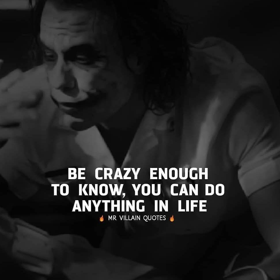 Be Great Joker Quotes Joker Qoutes Gangster Quotes