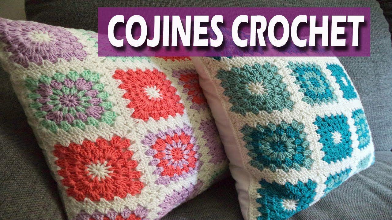 Cojines y almohadones tejidos a crochet en granny dise os - Cojin de crochet ...