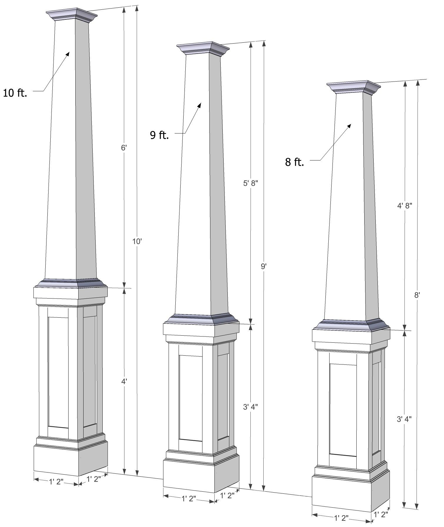 Tapered Pvc Post Wrap Column Wrap House With Porch Craftsman Columns