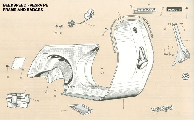 6fe99fc672ec7971786b28b51e93e7c9 vespa part diagrams vespa rebuild ideas pinterest vespa vespa p200 wiring diagram at bakdesigns.co