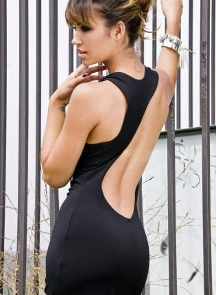 Black Maxi Backless Cut out Cowl Neckline Dress,  Dress, maxi dress  backless  maxi  long  eco-friendly, Eco Friendly