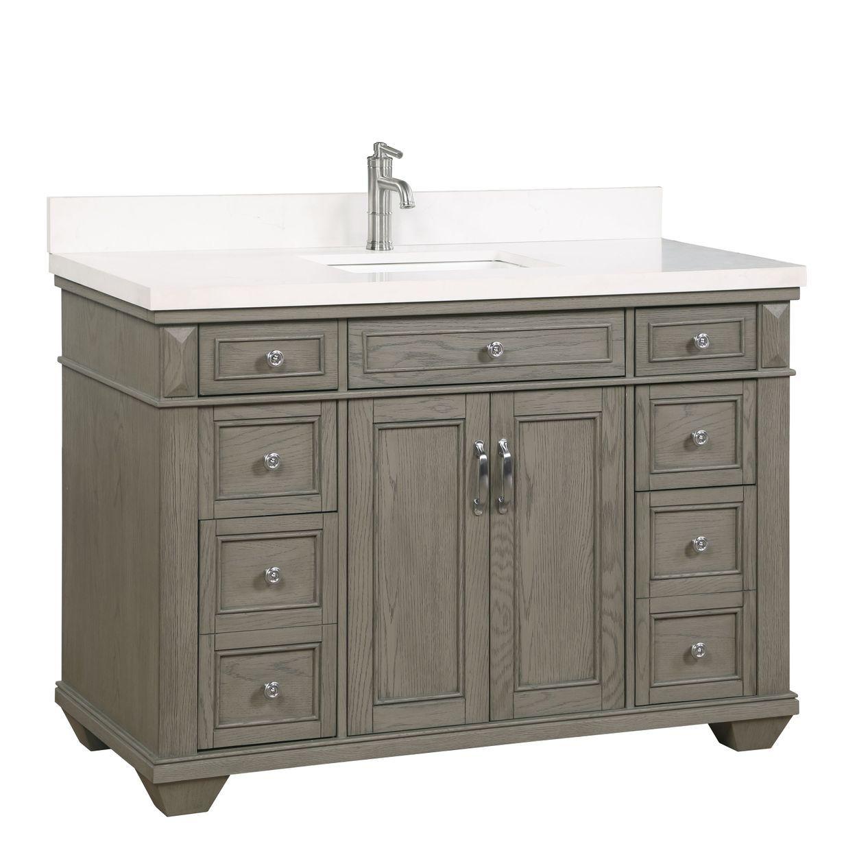 Rockvale 48 Vanity By Northridge Home Vanity 48 Inch Bathroom Vanity Oak Vanity Bathroom