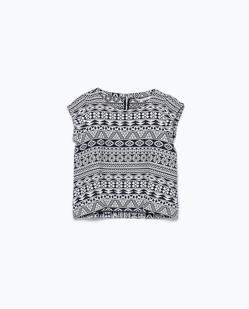 ZARA - TRF - TOP JACQUARD | Moda | Pinterest | Zara, Patrones y ...