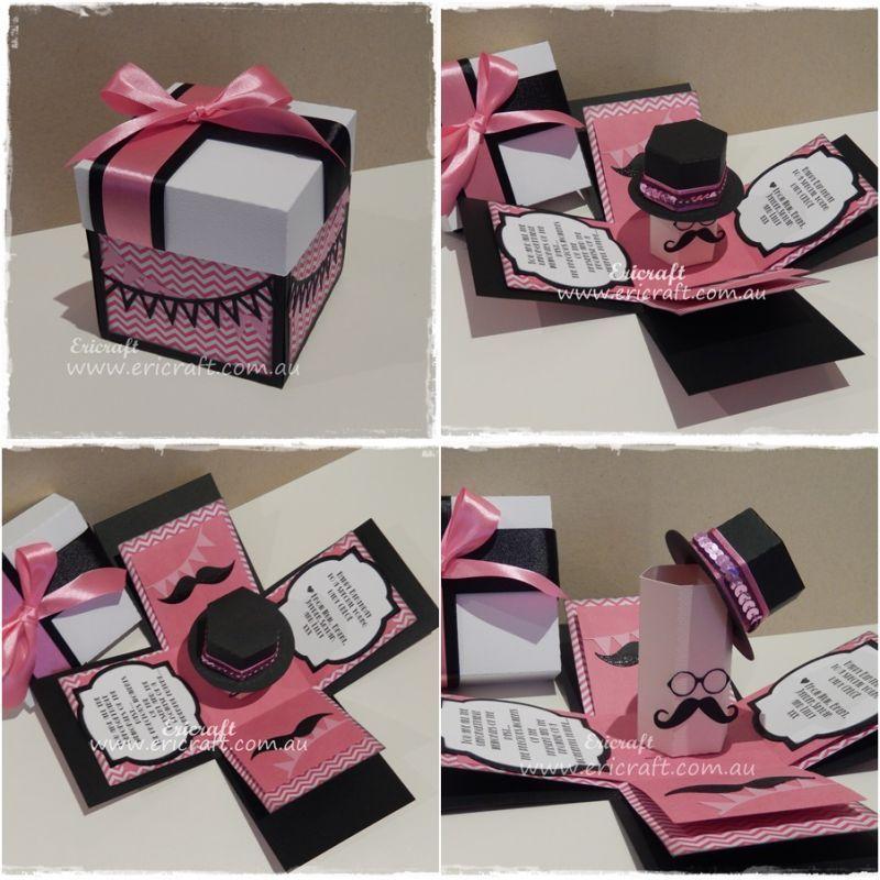 Hat Box Invitation Google Search Exploding Box For Boyfriend Exploding Gift Box Exploding Box Card