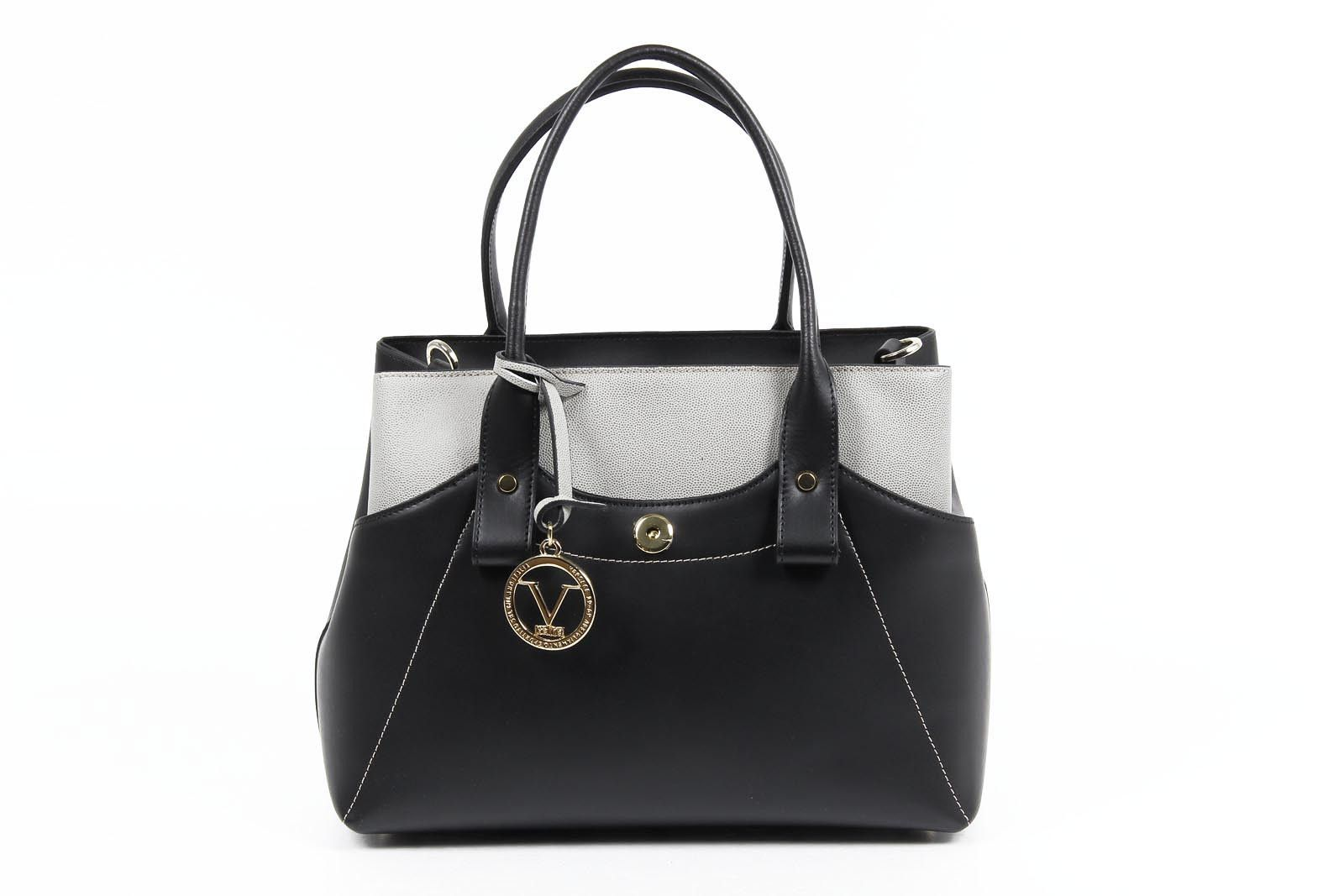 Versace 19.69 Abbigliamento Sportivo Srl ladies handbag H491/52 RUGA/BELUGATO NERO/GRIGIO