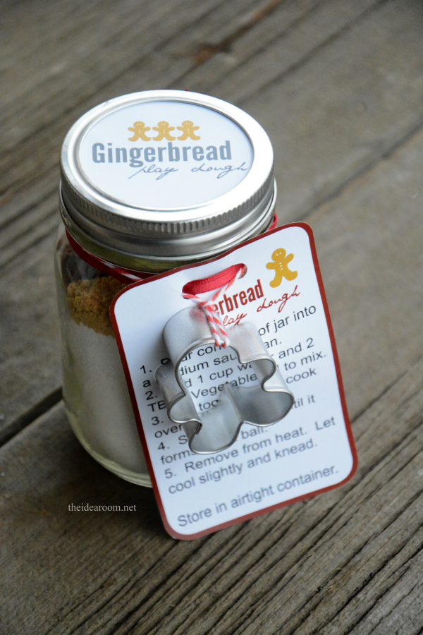 Gingerbread Play Dough Gift Kit Recipe Play Dough Gift Gingerbread Play Dough Christmas Jars