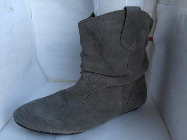 3fb988a0dfe2 STEVE MADDEN WOMEN GREY SUEDE SLOUCH ANKLE BOOTS KALLE SIZE 10 MEDIUM  RUSSELLB  SteveMadden  Slouch