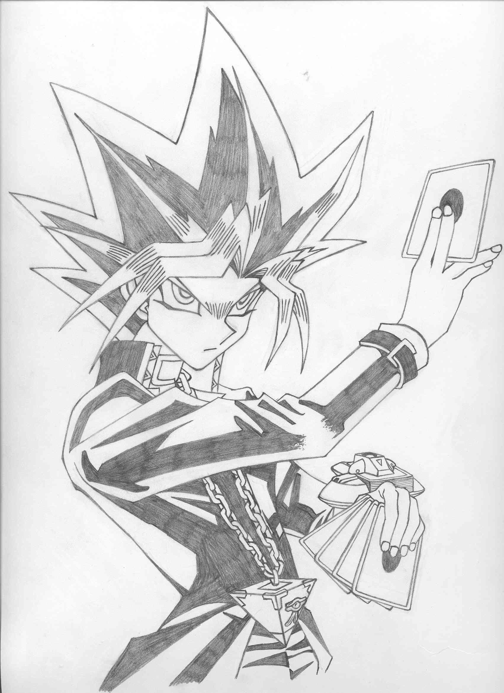 Yami Yugi | Pokemon coloring pages, Drawings, Anime drawings