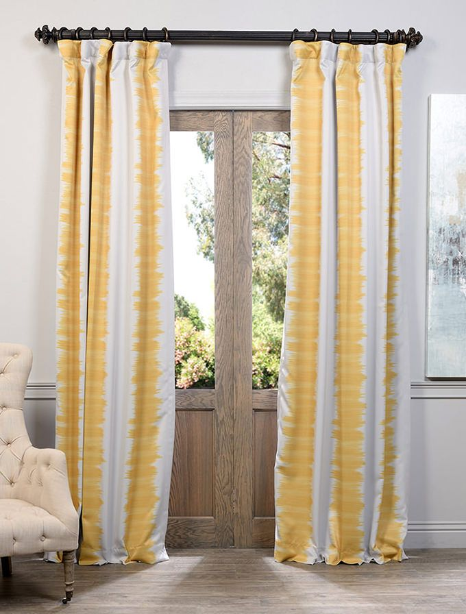 Flambe Yellow Blackout Curtain Curtains Living Room Panel Curtains Curtains