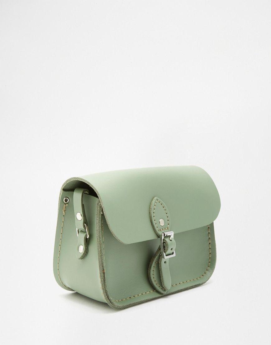 662cb8e3f0ea5 The Cambridge Satchel Company Leather Mini Traveller Bag in Green ...