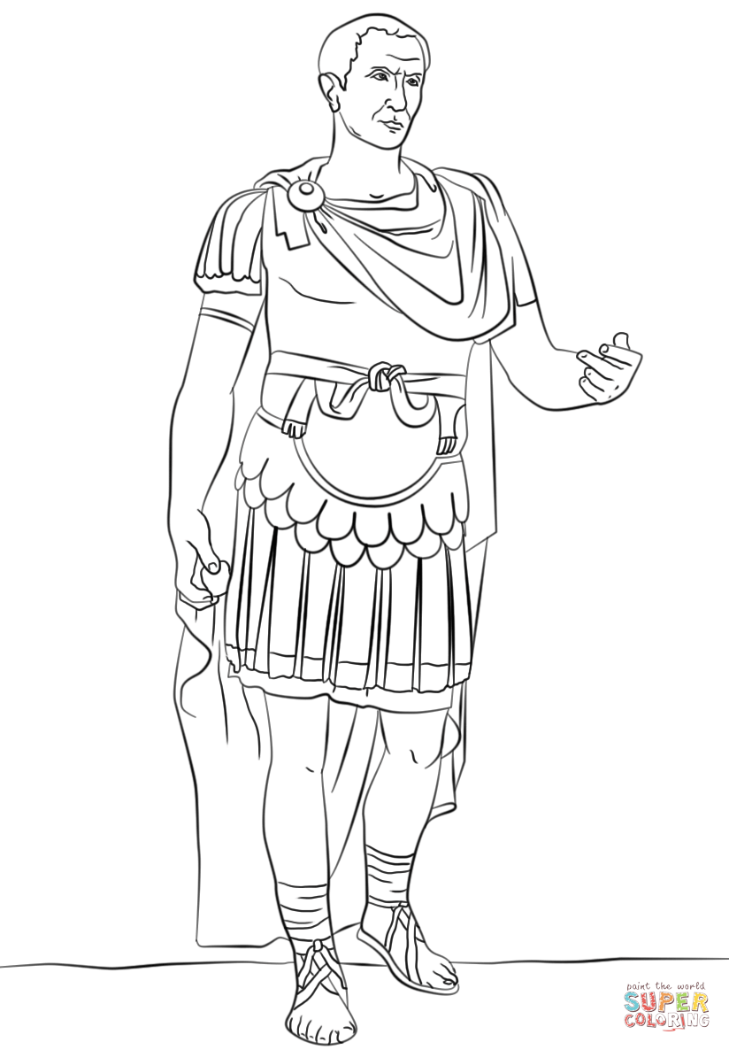 Galius Julius Caesar coloring page from Ancient Rome and Roman ...